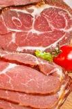 Viande délicieuse avec des légumes image stock
