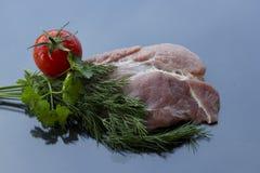 viande d'isolement crue Photo stock