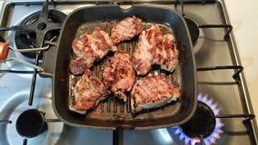 Viande dans le carter Photographie stock libre de droits