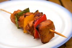 Viande de BBQ avec le paprika Photo stock