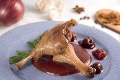 Viande de canard Photographie stock