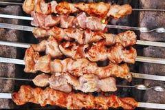 Viande de mouton faite comme shashlik sur le pays extérieur sélection-Nick Photos stock
