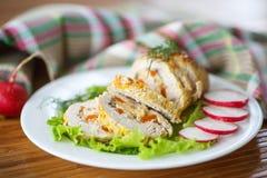 Viande de petit pain de poulet images libres de droits