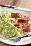 Viande de porc avec des boulettes Photo libre de droits