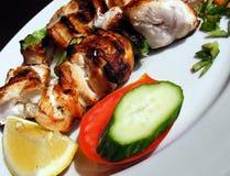 Viande de porc avec des légumes Image libre de droits