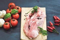Viande de porc crue Photo stock