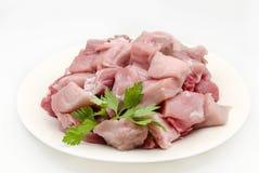 Viande de porc crue coupée en tranches Image stock