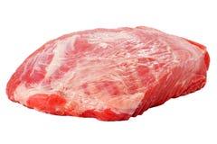 Viande de porc crue fraîche d'isolement sur le blanc Images stock