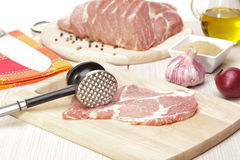 Viande de porc de précurseurs Photos libres de droits