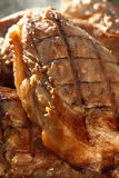 Viande de porc marinée fumée, faite maison Images libres de droits