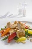 Viande de poulet avec des légumes Photographie stock libre de droits