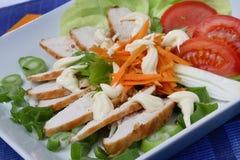 Viande de poulet avec le légume image stock