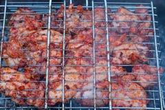 Viande de poulet sur le gril, Russie Photos libres de droits