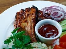 Viande de rôti sur la nervure Photo stock