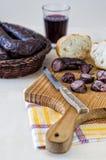 Viande de saucisse Images libres de droits