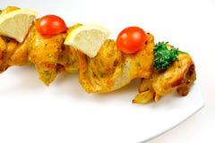 Viande du gril du poulet avec des légumes Photographie stock