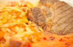 Viande et Cabbage_a Images libres de droits