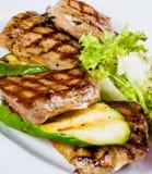 Viande et courgette grillées Photographie stock libre de droits