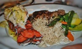Viande et homard Photos libres de droits