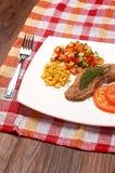 Viande et légumes Images stock
