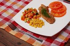 Viande et légumes Images libres de droits