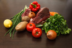 Viande et légumes Photos libres de droits