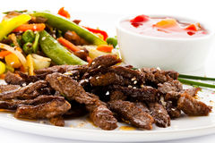 Viande et légumes rôtis Photos libres de droits