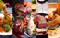 Viande et poissons juteux image stock