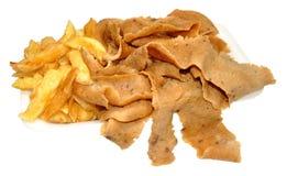 Viande et pommes chips de Doner Images stock