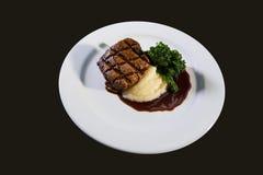 Viande et pommes de terre Photographie stock libre de droits