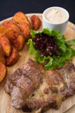 Viande et pommes de terre Image stock