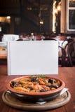Viande et pommes de terre de boeuf dans le restaurant Photos libres de droits