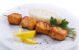 Viande et riz du plat photographie stock