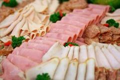Viande et salami Photographie stock libre de droits