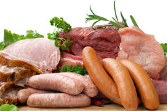 Viande fraîche de boucher Photos libres de droits