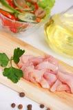Viande fraîche de poulet Photo stock