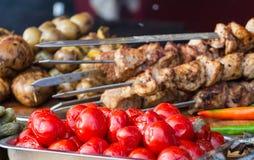 Viande frite par barbecue Photographie stock