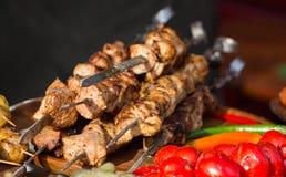 Viande frite par barbecue Photo stock