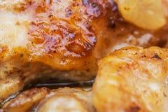 Viande frite savoureuse Viande légère de poulet images libres de droits
