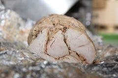 Viande froide délicieuse cuite au four avec des épices Images libres de droits
