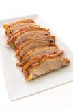 Viande grillée de canard dans le plat blanc Photographie stock libre de droits
