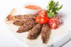 Viande grillée de chiche-kebab Images libres de droits