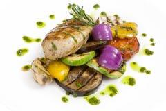 Viande grillée de poulet Photographie stock libre de droits