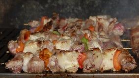 Viande grillée par barbecue Photo libre de droits