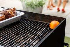 Viande grillée sur le barbecue Images libres de droits