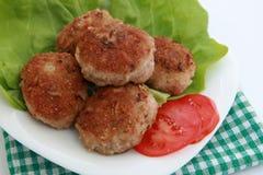 viande hachée frite par pâte lisse Image libre de droits