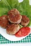 viande hachée frite par pâte lisse Image stock