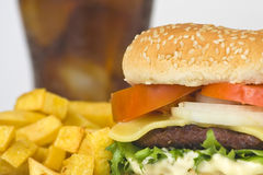 viande juteuse d'hamburger Photos libres de droits