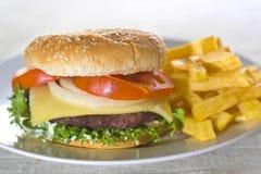 viande juteuse d'hamburger Photographie stock libre de droits