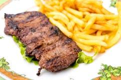 Viande juteuse de boeuf de bifteck Photos libres de droits